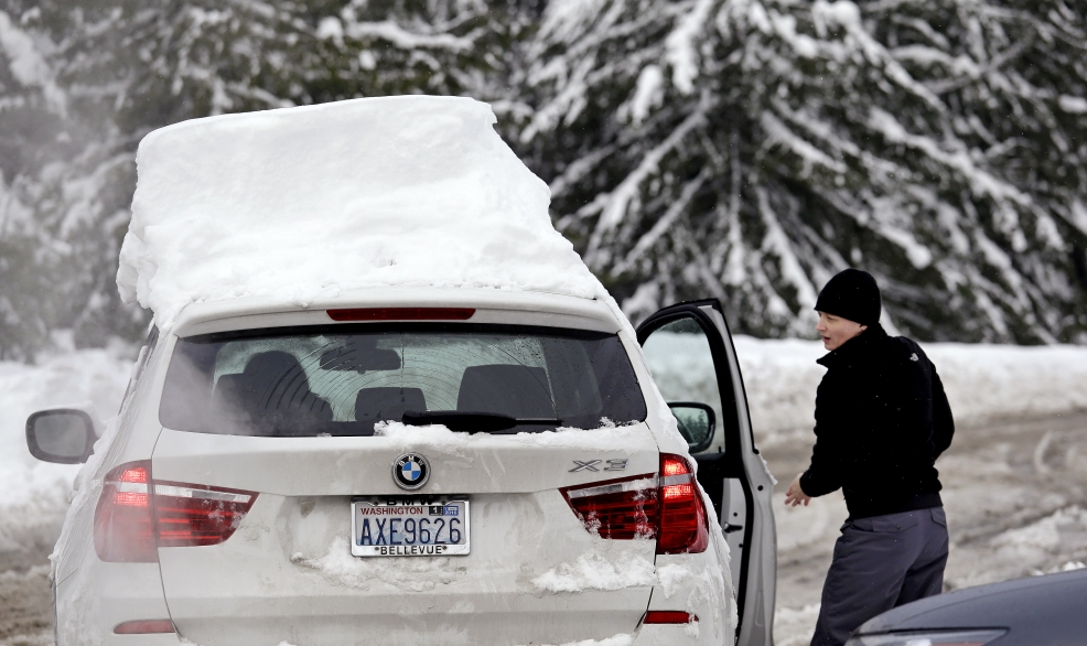 "12 feet of snow at Snoqualmie, 10"" of rain in Seattle in December"